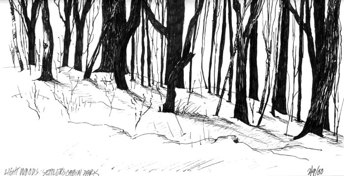 pencil drawings of landscapes