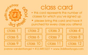 yoga punch card template